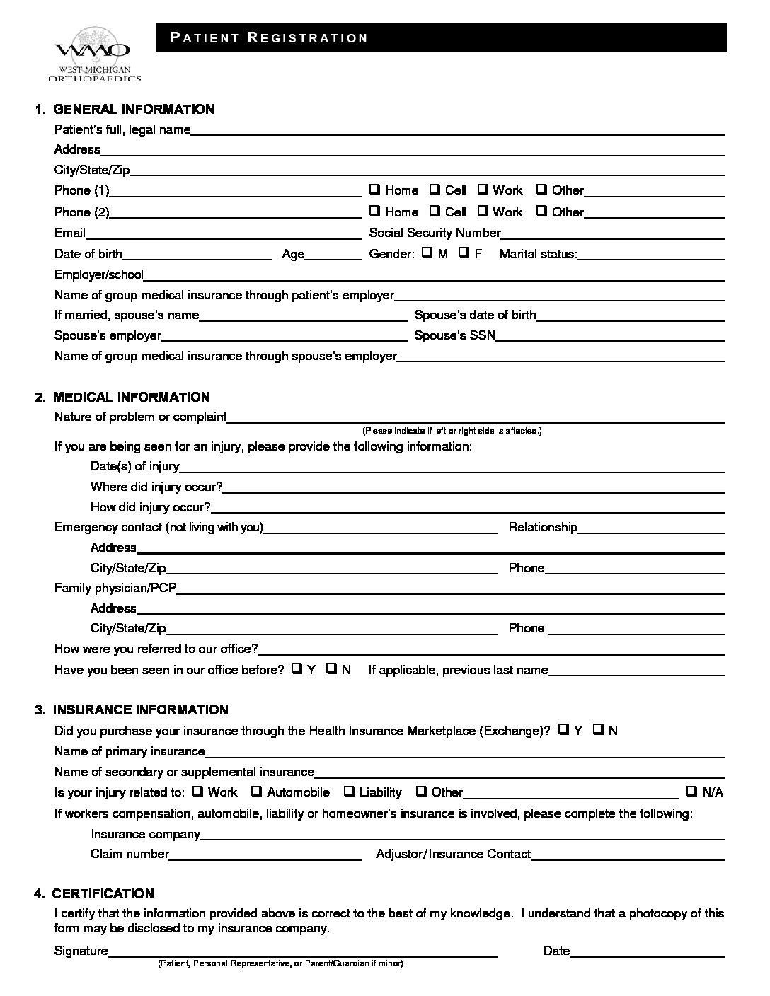 Forms – West Michigan Orthopaedics on surgery medical forms, patient health forms, blank patient information forms, new patient admissions, new patient charting, new patient information form, medical triage forms, printable nursing assessment forms, new patient signs, new patient intake form, insurance medical forms, printable doctor fill out forms, physical medical forms, emergency medical forms, blank medical history forms, new patient form template, patient info forms, diagnosis medical forms, hipaa patient consent forms, new baby medical forms,